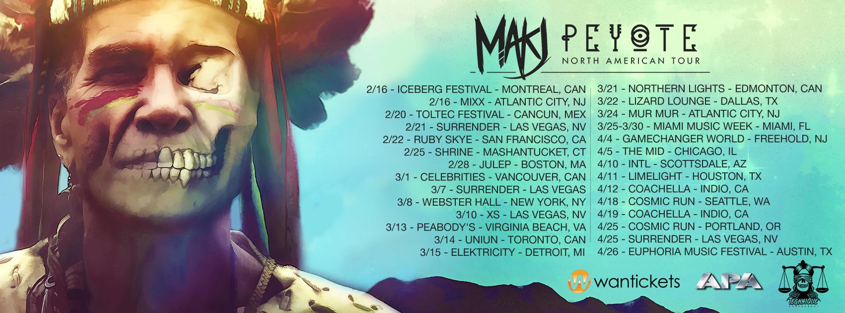 Peyote Tour Flyer